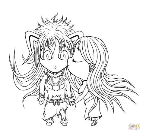 Anime Kleurplaat by Ichihime Chibi Kleurplaat Gratis