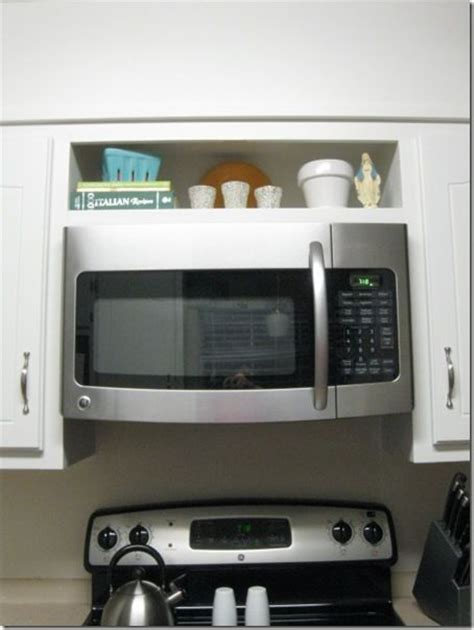 over the range microwave cabinet hang an over the range microwave without an overhead