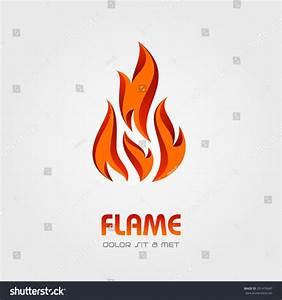 Flame Fire Logo Abstract Vector Design Stock Vector ...