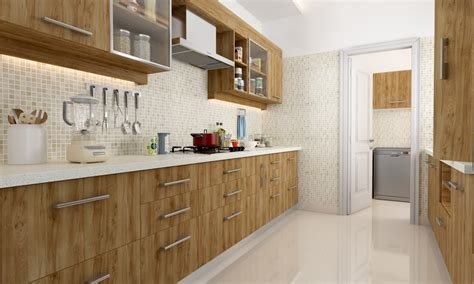 Kitchen Mosaic Tiles Ideas - buy jenner parallel modular kitchen online in india livspace com