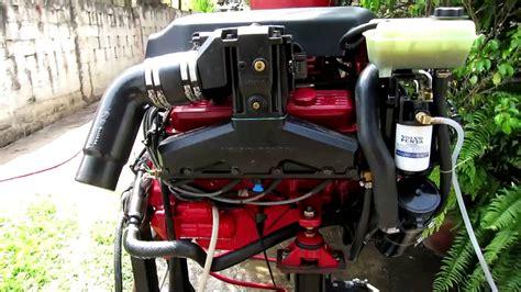bench test volvo penta  osi bf marine engine youtube