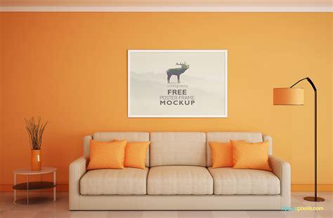 Best free packaging mockups from the trusted websites. Download Free Frame Mockup for Poster Display | ZippyPixels