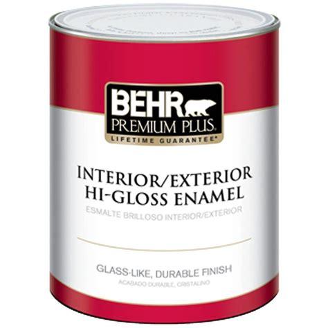 Behr Premium Plus 1qt Ultra Pure White Higloss Enamel