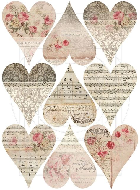 free shabby chic printables instant download digital collage sheet shabby chic gift tags vintage