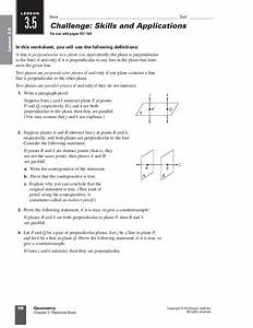 Parallel And Perpendicular Lines Worksheet For 9th