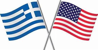 Flag Greek American Schuyler