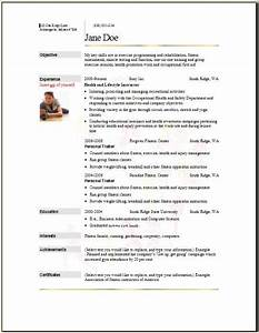 Sports fitness resume occupationalexamplessamples free for Free sports resume template