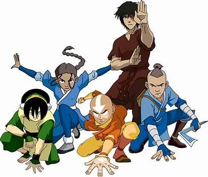 Avatar Team Aang Zuko Katara Korra Titans