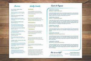 8 free church bulletin templates With weekly bulletin template