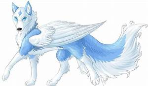 Wise Alpha Female Wolf anime | Anime Blue Wolf With Wings ...