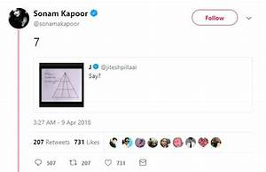 Sonam Kapoor Failed To Answer Simple Math Puzzle  Gets Trolled