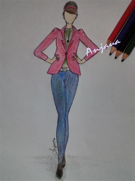 fashion casual fashion model fashion illustration sketches