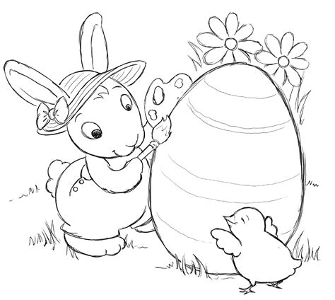 printable easter bunny coloring pages  kids
