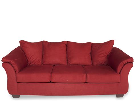 contemporary  profile  sofa  red mathis brothers