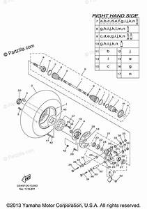 Yamaha Side By Side 2008 Oem Parts Diagram For Rear Wheel 2