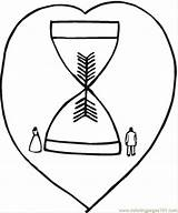 Hourglass Coloring Sand Pages Reloj Arena Template Clocks sketch template