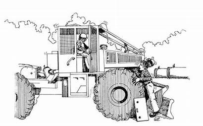 Skidder Clipart Logging Log Clip Coloring Drawing