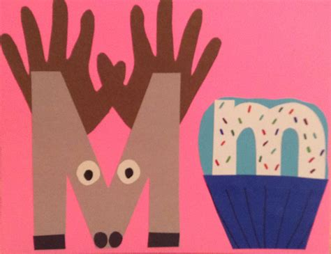 moose muffin  alphabet art preschool