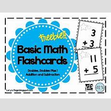 Lory's 2nd Grade Skills Math Flashcards Freebie