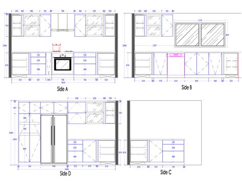 blueprints for a house 3d kitchen cabinets interior4you