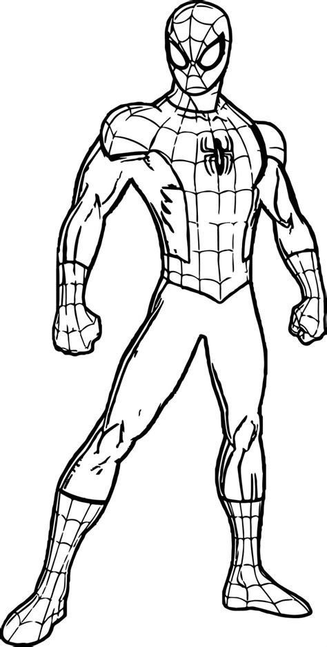 spiderman suit coloring page  coloring pages printable  kids  adults