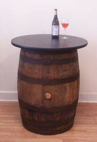whiskey barrel pub table vintage wood whiskey barrel pub bistro bar table ebay