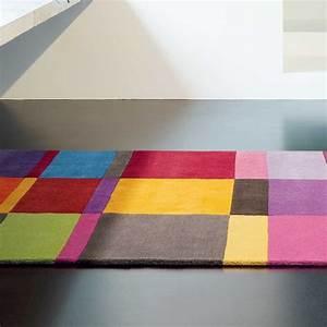 tapis de luxe multicolore en laine par ligne pure With tapis laine multicolore