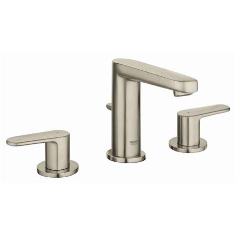 lowes bathroom sink faucets brushed nickel shop grohe europlus brushed nickel 2 handle widespread