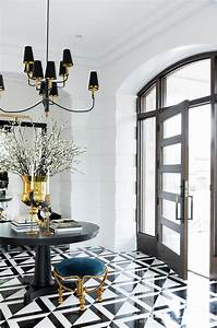 Contemporary, Black, And, White, Tile, Floor, In, This, Stunning