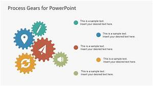Process Gear Shapes For Powerpoint