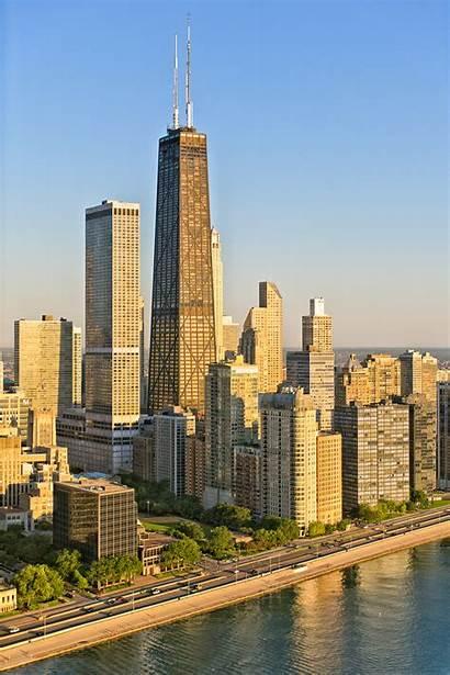 Hancock John Center Chicago Tower Illinois Skyscraper