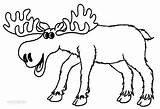 Moose Coloring Pages Cartoon Elk Drawing Printable Baby Clipart Colors Bull Cute Colouring Sheets Cliparts Print Clip Drawings Collection Prints sketch template