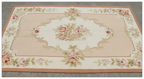 shabby chic rugs shabby chic aubusson rug light pink ivory
