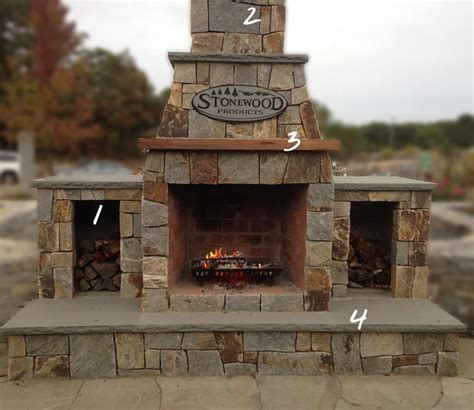 outdoor wood burning fireplace kits outdoor fireplaces fireplace kits cape cod ma