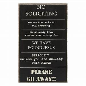 Collins Painting & Design - No Soliciting Sign