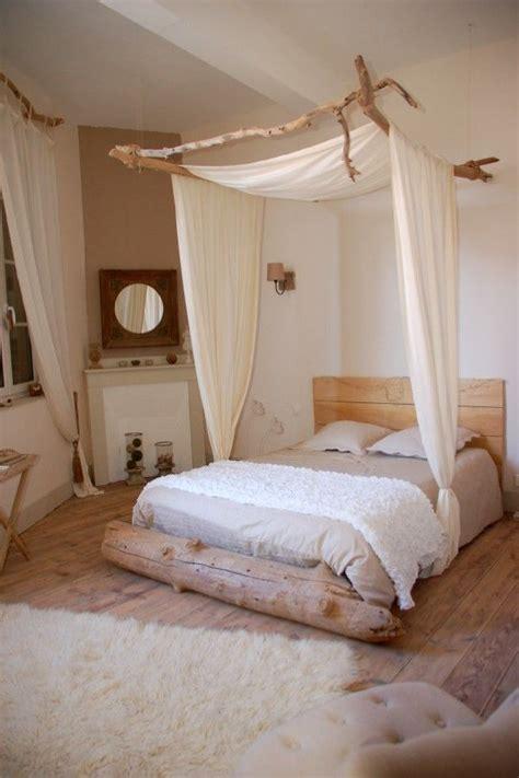 voilage chambre adulte idées déco un ciel de lit pour une chambre bohème et