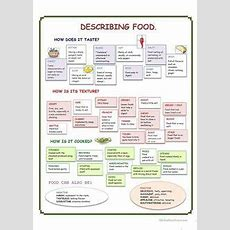 Food Adjectives List Click On The Image To Get A Free Printable Version If You're Trying To