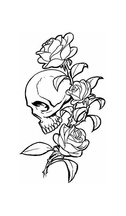 Drawings Tattoos Skulls Skull Afrenchieforyourthoughts Tattoo Rose