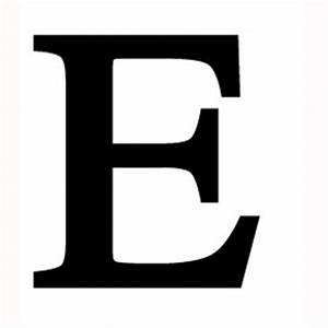 Wrought Iron Letter E