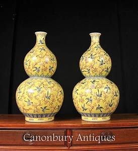 Chinesisches Porzellan Kaufen : paar qing chinesisches porzellan vogel vasen famille jaune ~ Michelbontemps.com Haus und Dekorationen