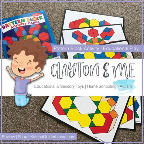 pattern block activity cards educational play episode