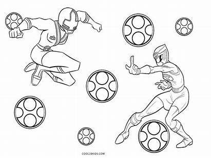 Coloring Power Ranger Pages Printable Rangers