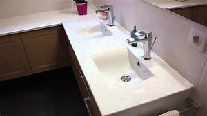 Salle de bain en angle double vasque atlantic bain youtube for Salle de bain design avec ikea lavabo