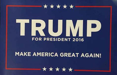 Donald Trump For President 2016 Campaign Poster Sign New