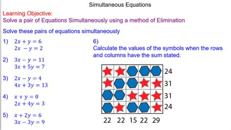 solving simultaneous equations mr mathematics com