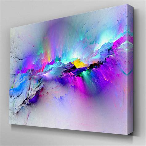 Abstrakte Kunst Leinwand by Ab968 Modern Multicoloured Blue Canvas Wall Abstract