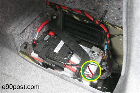 bmw e90 batterie changing the battery