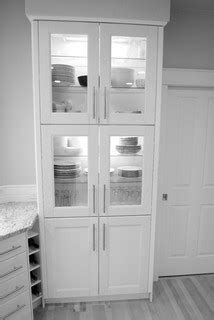 IKEA Ramsjo White cabinets & Wolf range - Contemporary