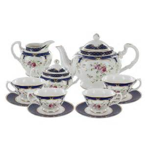 tea cup favors navy porcelain tea set