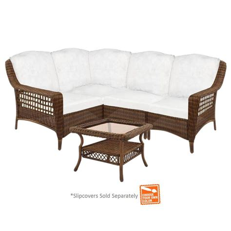 hton bay brown 5 wicker patio